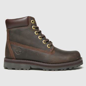 Timberland Dark Brown Courma 6in Boys Junior