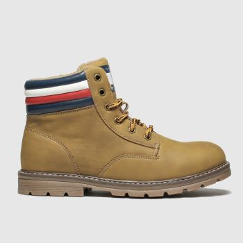 Tommy Hilfiger Natural Lace Up Boot c2namevalue::Boys Youth
