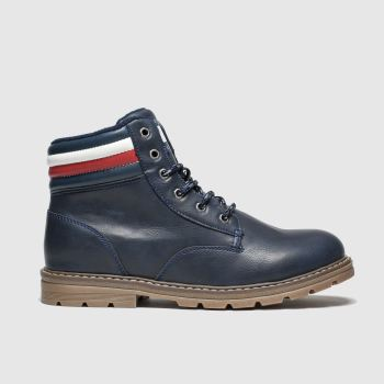 Tommy Hilfiger Navy Lace Up Boot Boys Youth