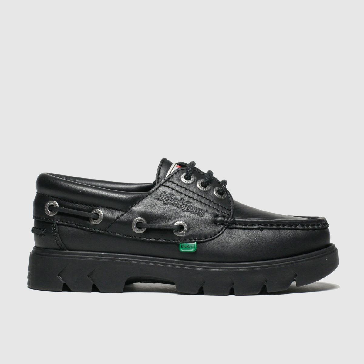 Kickers Black Lennon Boat Shoes Youth