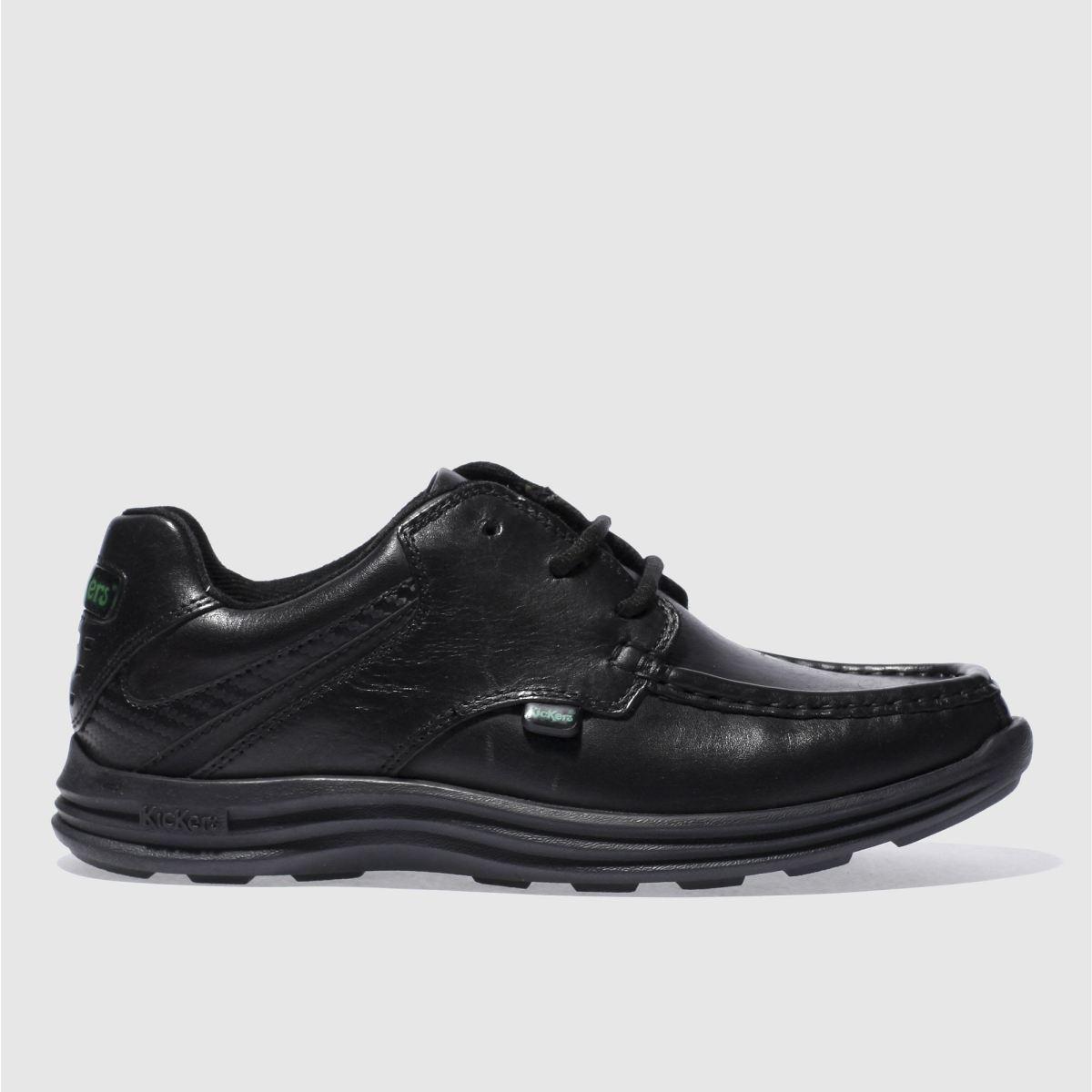 Kickers Black Reasan Lace Shoes Youth