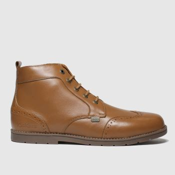 kickers tan orin brogue boots youth