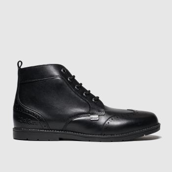 Kickers Black Orin Brogue Boys Youth