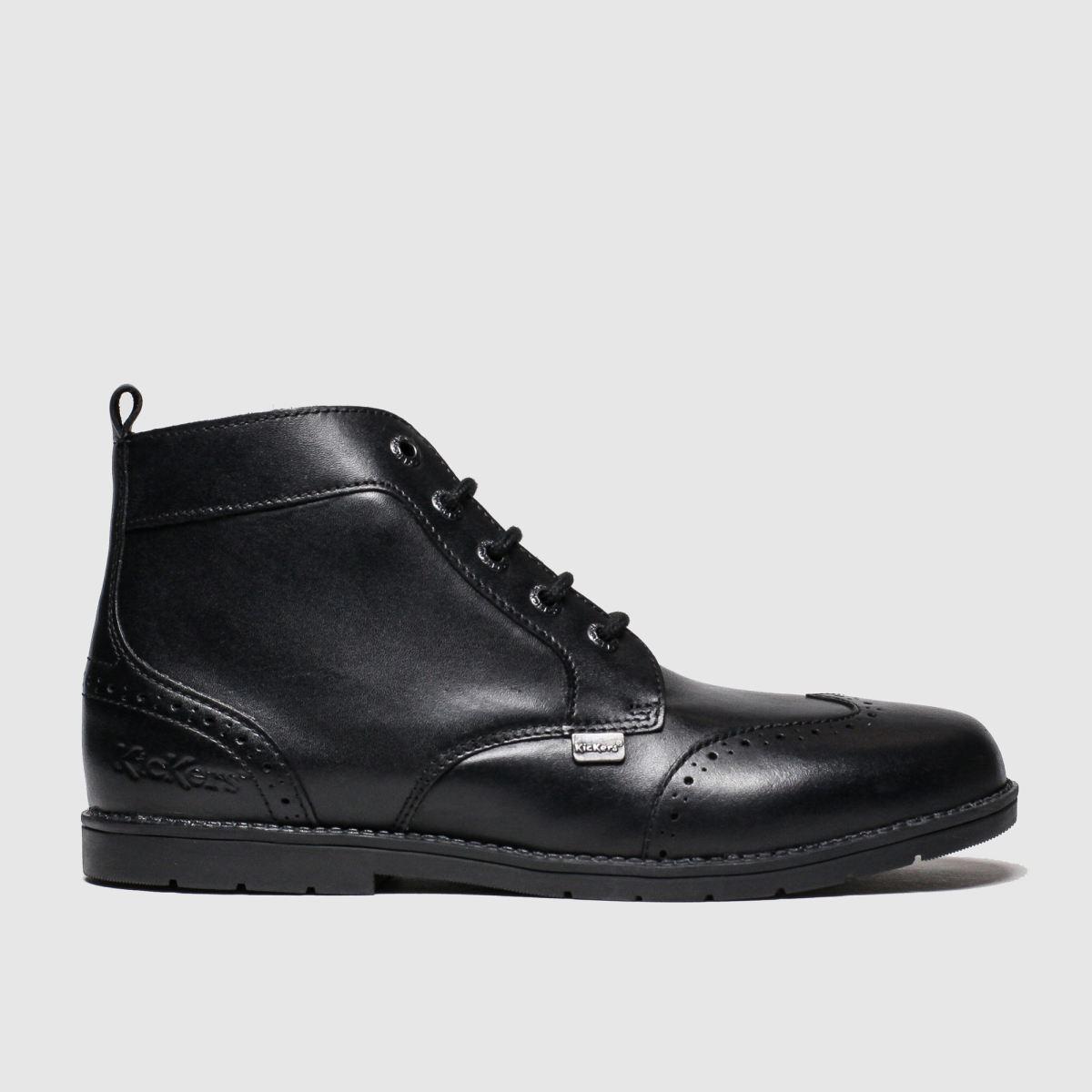 Kickers Black Orin Brogue Boots Youth