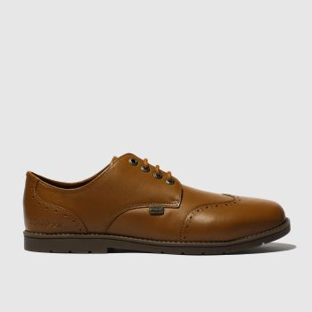 Kickers Tan Orin Brogue Lo Boys Youth