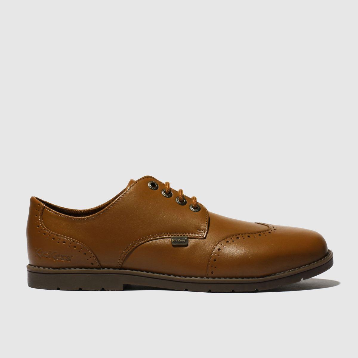 Kickers Tan Orin Brogue Lo Shoes Youth