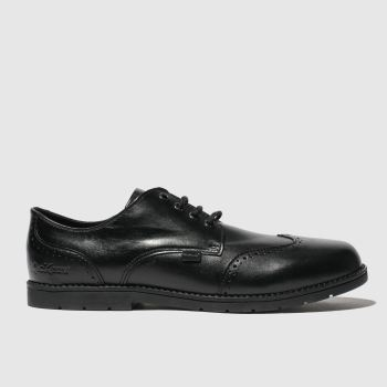 Kickers Black Orin Brogue Lo Boys Youth
