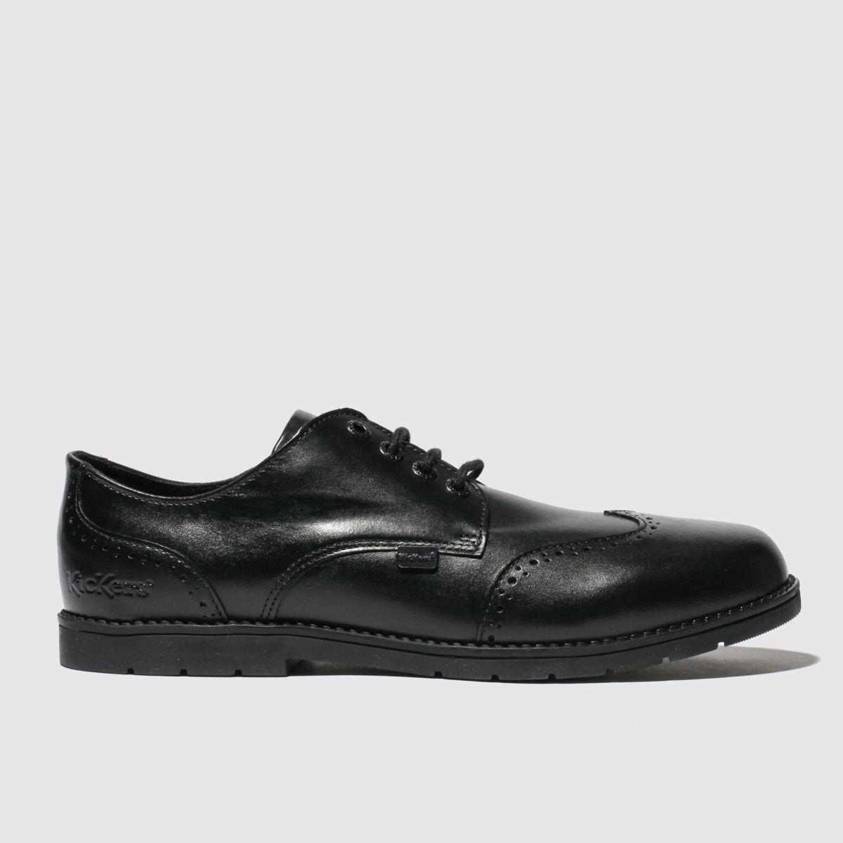 Kickers Black Orin Brogue Lo Shoes Youth