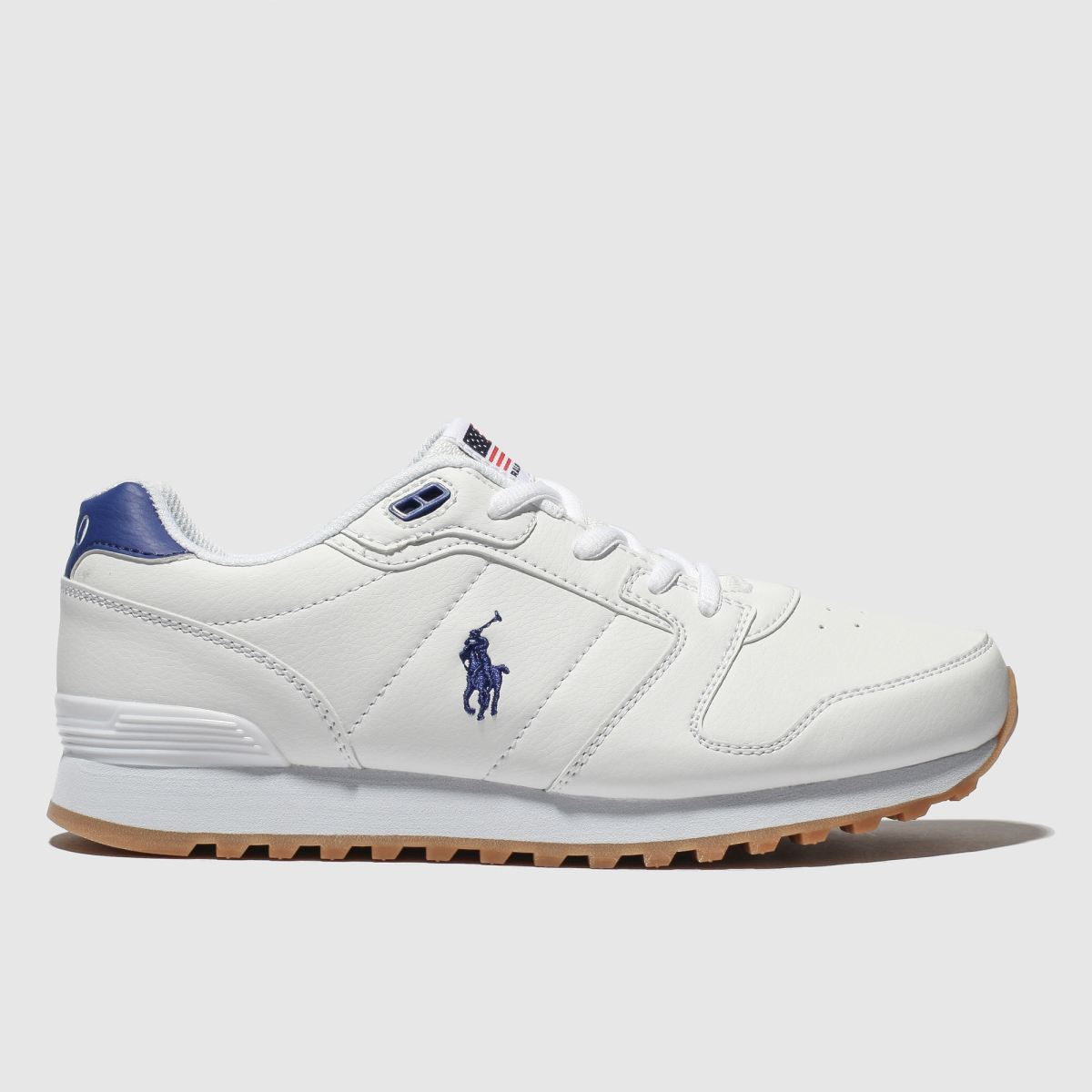 Polo Ralph Lauren White & Navy Oryon Shoes Youth