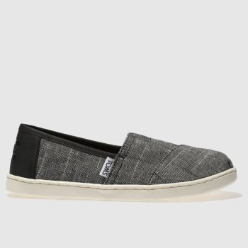 Toms Black Classic Boys Youth