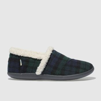 Toms Dark Green House Slipper Boys Youth