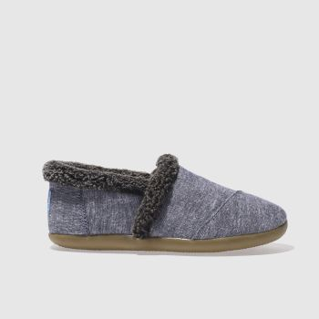 Toms Navy House Slipper Boys Youth