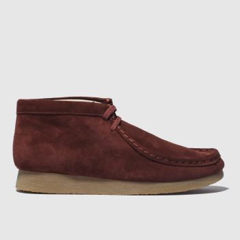Clarks Originals Burgundy Wallabee Boys Youth