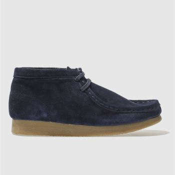 Clarks Originals Navy Wallabee Boot Boys Youth