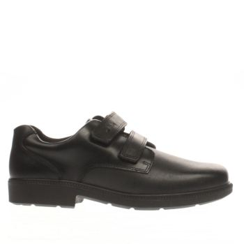 CLARKS BLACK DEATON GATE BOYS YOUTH SHOES