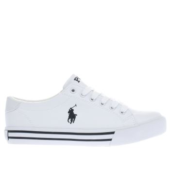 POLO RALPH LAUREN WHITE SLATER BOYS YOUTH TRAINERS