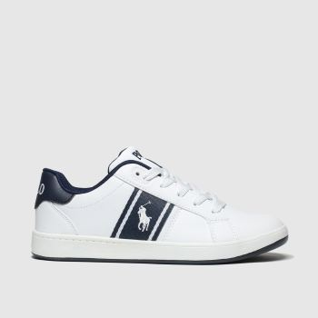 Polo Ralph Lauren White & Navy Quigley c2namevalue::Boys Youth