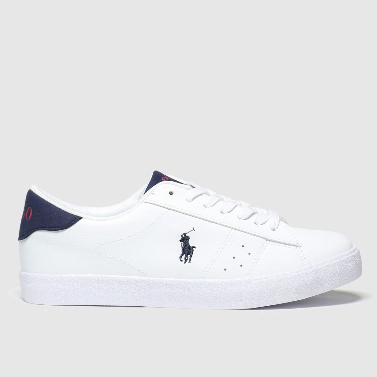 Polo Ralph Lauren White & Navy Theron Boots Youth