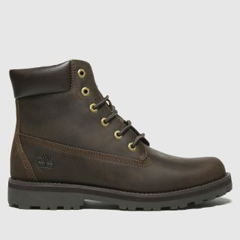 Timberland Dark Brown Timb Courma 6in Boys Youth#