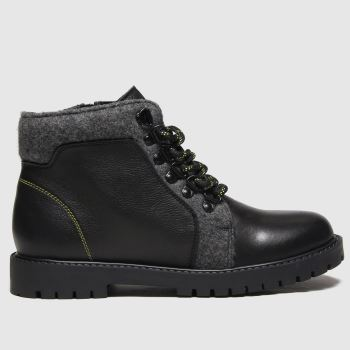 schuh Black & Grey Orbital Boys Youth