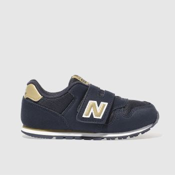 NEW BALANCE NAVY 373 BOYS TODDLER TRAINERS