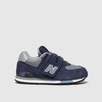 new balance navy & pl blue 574 trainers toddler