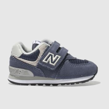 NEW BALANCE NAVY 574 TRAINERS TODDLER