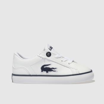 Lacoste White & Navy LEROND Boys Toddler