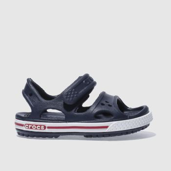 crocs Navy & White Crocband Sandal Boys Toddler