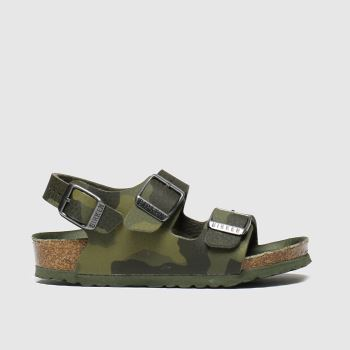 Birkenstock Khaki Milano c2namevalue::Boys Toddler