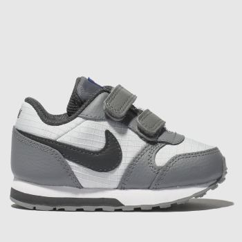 nike white & grey md runner 2 trainers toddler