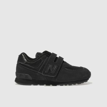 New Balance Black 574 Boys Toddler