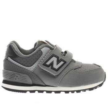 NEW BALANCE GREY 574 BOYS TODDLER TRAINERS