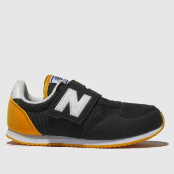 New Balance Black & Orange 220 Boys Toddler