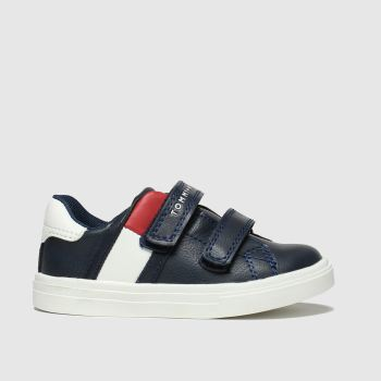 Tommy Hilfiger Navy & Red Velcro Sneaker Boys Toddler