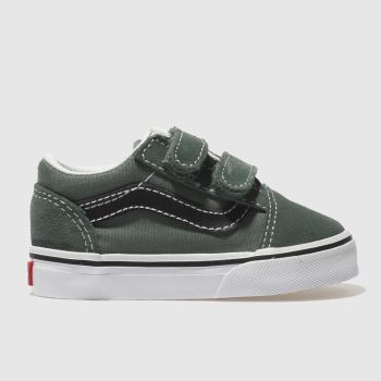 Vans Dark Green OLD SKOOL V Boys Toddler