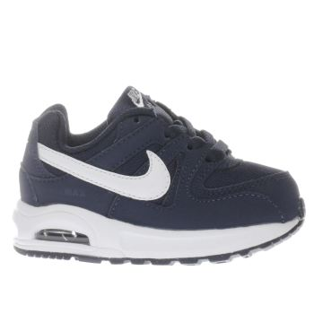 NIKE NAVY & WHITE AIR MAX COMMAND BOYS TODDLER TRAINERS