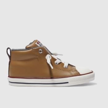 CONVERSE TAN ALL STAR STREET MID BOYS TODDLER TRAINERS
