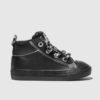 Converse Black & White ALL STAR STREET MID Boys Toddler