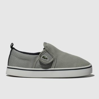 Lacoste Grey & Navy Gazon Boys Toddler