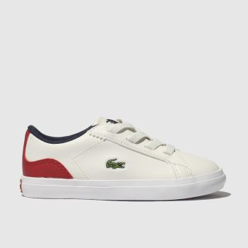 Lacoste White & Red Lerond Boys Toddler