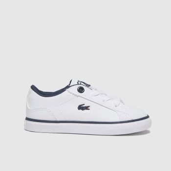 Lacoste White & Navy Lerond Boys Toddler#
