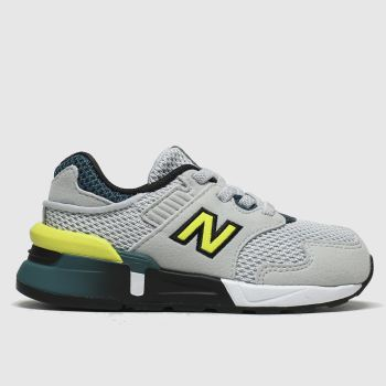 New Balance Grey & Lime 997 Boys Toddler