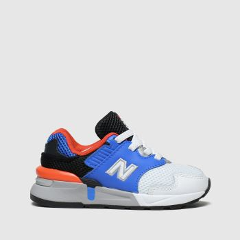 new balance white & blue 997 trainers toddler