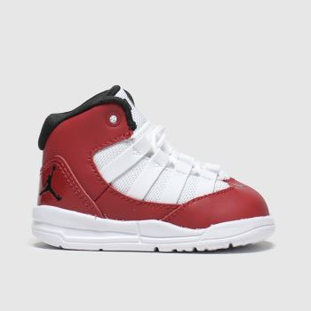 Nike Jordan White & Red Max Aura Boys Toddler#