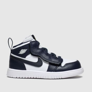 Nike Jordan Navy & White Jordan 1 Mid Alt Boys Toddler