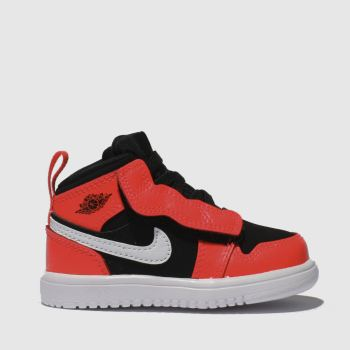 Nike Jordan Black & Red Jordan 1 Mid Boys Toddler