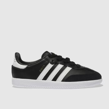 adidas Black & White Samba Og El Boys Toddler