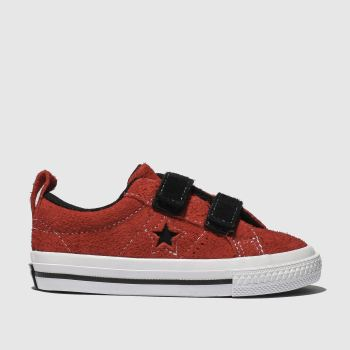 Converse Red One Star 2V Lo Boys Toddler
