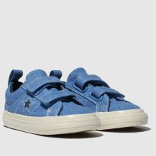 converse blue one star 2v lo trainers toddler
